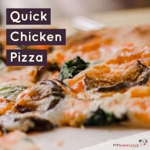 Quick Chicken Pizza