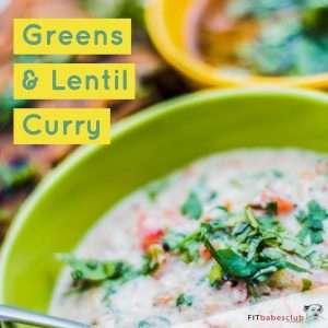 Greens & Lentil Curry