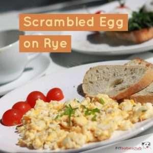 Scrambled Egg on Rye