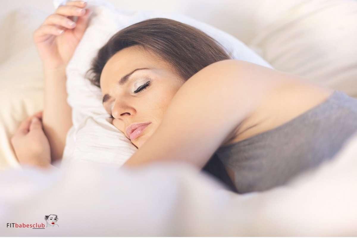 Asleep Woman Lying on Bed, Good Sleep Keep You Fresh