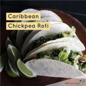 Caribbean Chickpea Roti