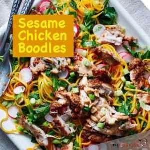 Sesame Chicken Boodles