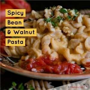 Spicy Bean & Walnut Pasta