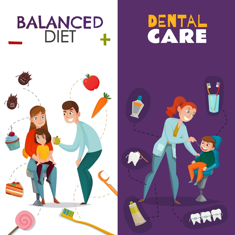 balanced diet and dental care